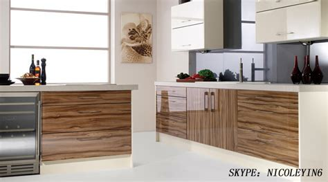 Modular Color Combinations Laminate Wooden Kitchen Cabinet