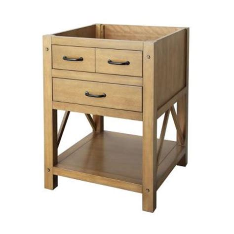 foremost avondale 24 in vanity cabinet only in weathered pine