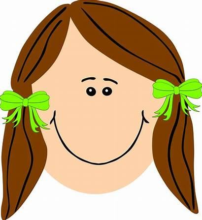 Brown Hair Clipart Cartoon Clip Cliparts Serious