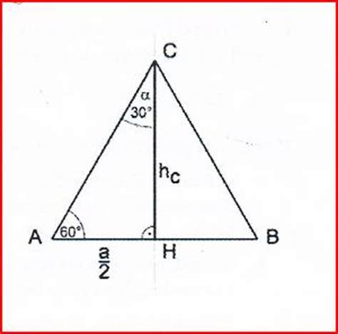 exakten wert fuer winkel berechnen gleichseitiges dreieck