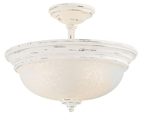 accents provence white semi flush ceiling light french