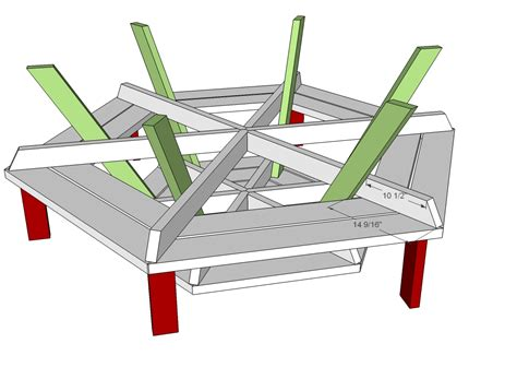 free picnic table plans free woodworking plans round picnic table quick