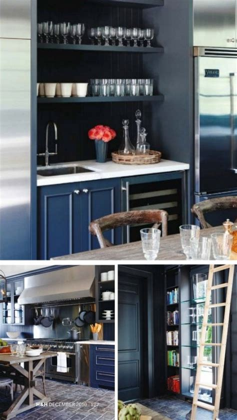 painted black cabinets  white cabinet  open shelving wet bar   basement dry bar