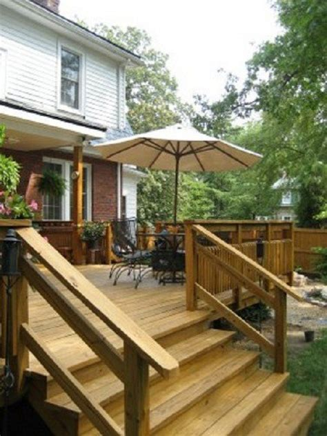 Deck Railing Pictures Stairs by Deck Stair Design Ideas For Beginners