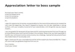 Sample Boss Thank You Letters Appreciation