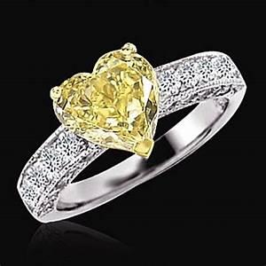 276 ct yellow canary diamond wedding fancy ring heart With canary yellow diamond wedding ring