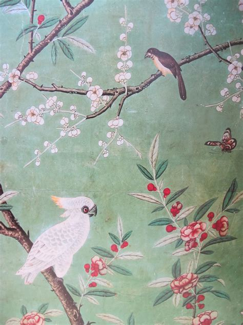 Wall with Chinese Wallpaper Design   Video and Photos