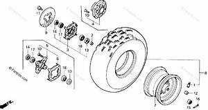 Honda Atv 1987 Oem Parts Diagram For Front Wheel