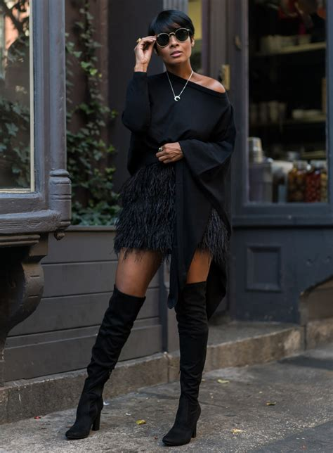 six black winter outfit ideas fashion trends