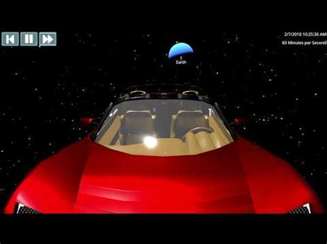 Download Tesla Car In Space Live Now Background