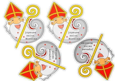 etiquette joyeuse saint nicolas  imprimer saint