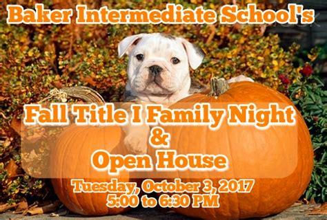 open house baker intermediate school