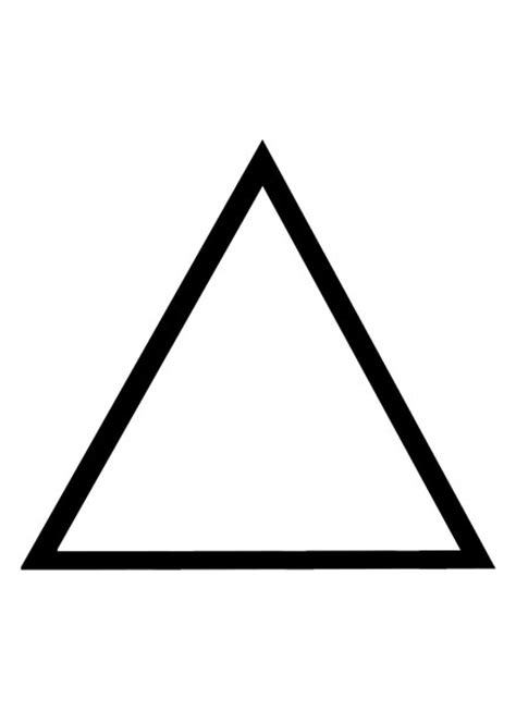 basic triangle outline  images  clkercom vector
