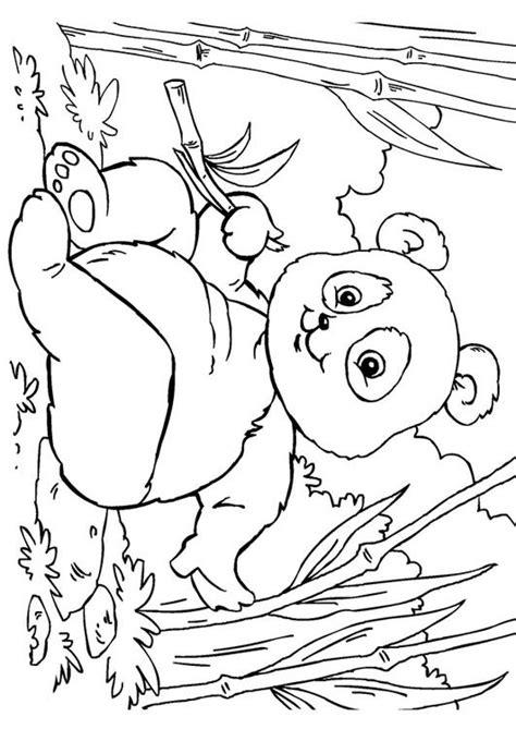 Dierenmasker Kleurplaat Panda by Kleurplaat Panda Afb 27859