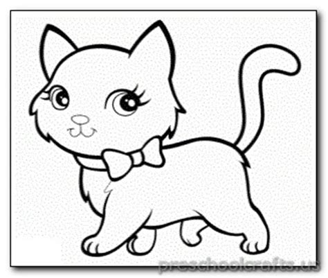 kitten coloring pages preschool  kindergarten