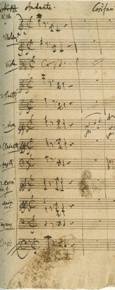 mozart cosi fan tutte a manuscript copy of beethoven s symphony no 1 part of
