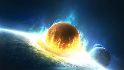 Collision Planet Doomsday Disaster Wallpapers Sun Space