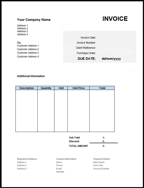 South Invoice Template by Non Vat Invoice Template Investasibimbel Info