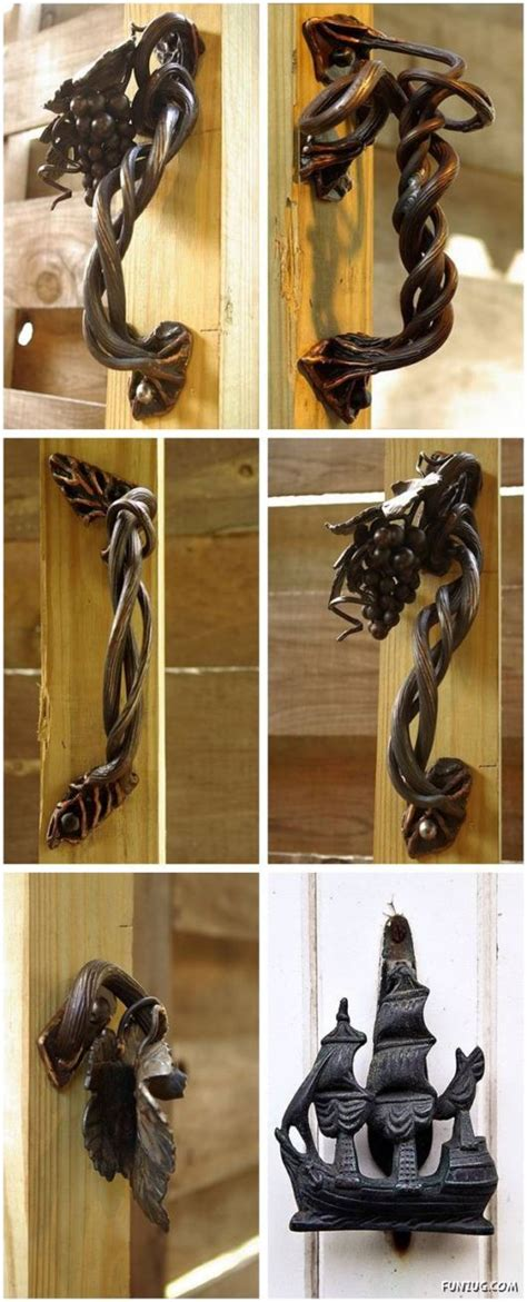 creative door hardware images  pinterest