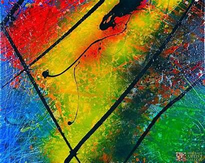 Abstract Marto Wayne Acrylic Canvas Painting Artist