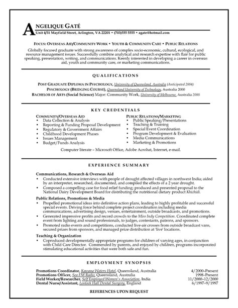 Public Relations Mid Experience | Resume Samples Templates