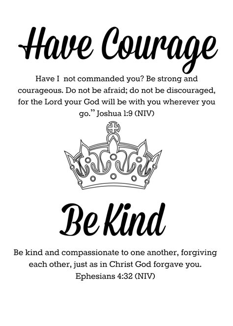 Have Courage Be Kind Printable | Quotes I like | Pinterest | Faith, Bible and Tattoo