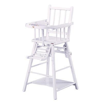 chaise haute bois blanc chaise marcel transformable de combelle chaises hautes