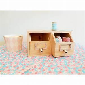 Rangement Tiroir Bois : rangement bureau 2 tiroirs en bois ~ Edinachiropracticcenter.com Idées de Décoration