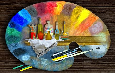 palette paint painting drawing brush hd wallpaper