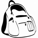 Backpack Coloring Clipart Clip sketch template