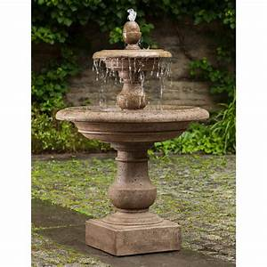 Caterina, Tiered, Water, Fountain, By, Campania