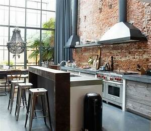 Cuisine industrielle l39elegance brute en 82 photos for Beautiful modele plan de maison 9 cuisine industrielle lelegance brute en 82 photos