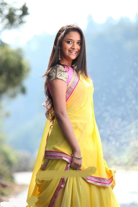 actress keerthi suresh in saree keerthi suresh saree pictures