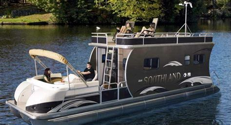 Tri Pontoon Fishing Boats by Tri Pontoon Boat With Cabin Hrv Southland Boat