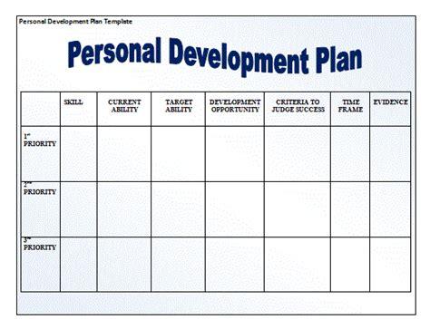 personal development plan template plan templates free word s templates