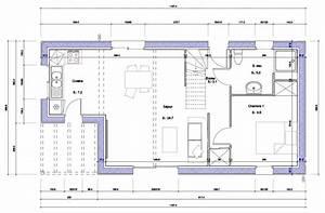 plan maison avec cote idees decoration interieure With plan maison avec cote