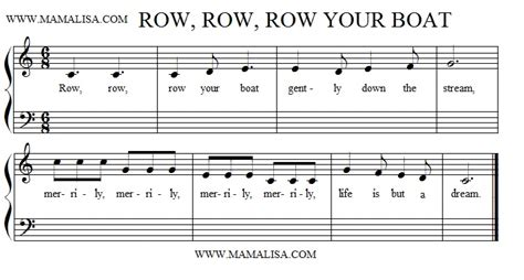 Row Row Row Your Boat Lyrics Notes by Row Row Row Your Boat American Children S Songs The