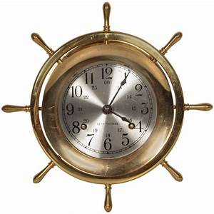Helmsman Seth Thomas Brass Marine Wall Clock At 1stdibs