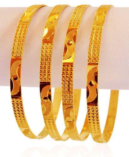 machine made 22k gold bangles 4 pc ajba59543 22k gold machine made bangles set of 4