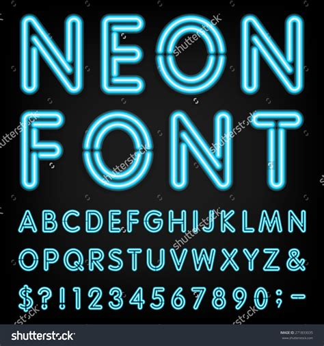 Neon Font Generator Shutterstock Fonts And Clipart