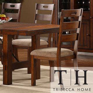 swindon rustic oak classic dining chair by tribecca home set of 2 by tribecca home set of