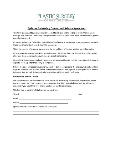 FREE 6+ Tattoo Consent Forms in PDF
