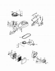 Fuel Tank  Air Cleaner Diagram  U0026 Parts List For Model