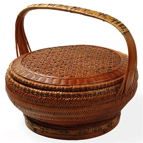 Used Furniture Sale by Woven Bamboo Chinese Basket Shimu Oriental Accessories