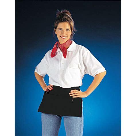 tablier de cuisine pour femme tablier court avec poches pour restaurant bar café