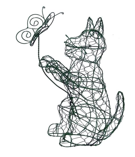 Cat & Butterfly Animal Topiary Frame