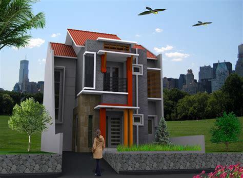 desain rumah tingkat minimalis  lantai type