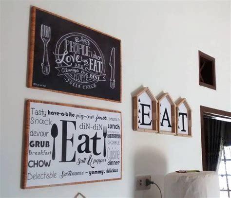 hiasan dinding ruang makan dapur  stik es krim