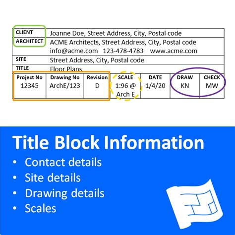 title block information