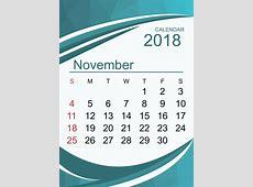 Editable November 2018 Calendar